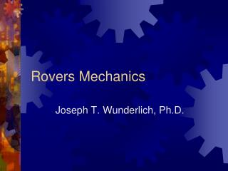 Rovers Mechanics