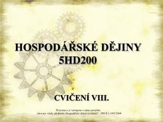 HOSPODÁŘSKÉ DĚJINY  5HD200