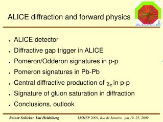 ALICE diffraction and forward physics
