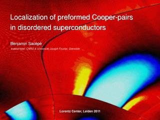 Localization of preformed Cooper-pairs  in disordered superconductors