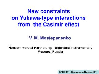 New constraints  on Yukawa-type interactions  from  the Casimir effect