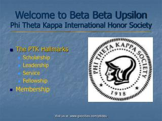 Welcome to Beta Beta Upsilon Phi Theta Kappa International Honor Society