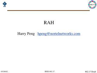RAH  Harry Peng    hpeng@nortelnetworks