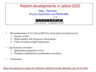 Recent developments in lattice QCD  P é ter   Petreczky
