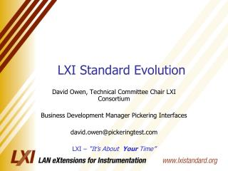 LXI Standard Evolution