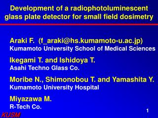 Development of a radiophotoluminescent glass plate detector for small field dosimetry
