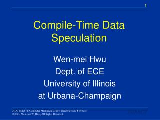 Compile-Time Data Speculation