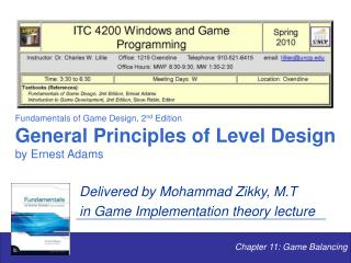 Chapter 11: Game Balancing