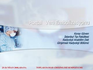 Portal  Ven Embolizasyonu