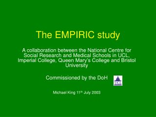 The EMPIRIC study