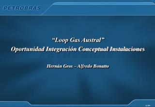 """""""Loop Gas Austral"""" Oportunidad Integración Conceptual Instalaciones Hernán Gros – Alfredo Bonatto"""