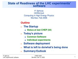 State of Readiness of the LHC experiments' software