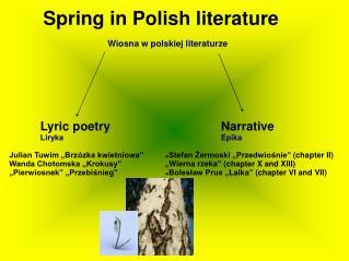 Wiosna w polskiej literaturze