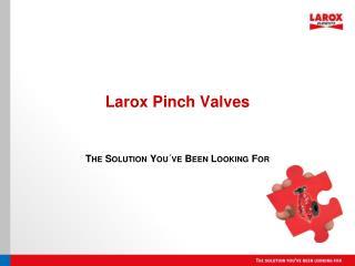 Larox Pinch Valves
