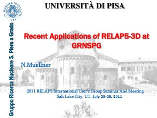 Recent Applications of RELAP5-3D at GRNSPG