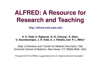 ALFRED: A Resource for Research and Teaching