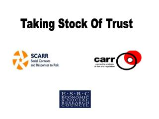 Taking Stock Of Trust