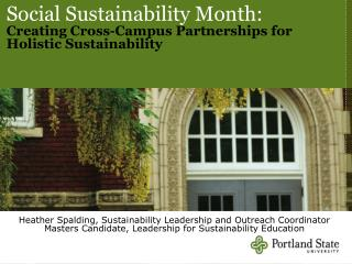 Social Sustainability Month:  Creating Cross-Campus Partnerships for Holistic Sustainability