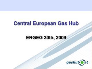 Central European Gas Hub ERGEG 30th, 2009