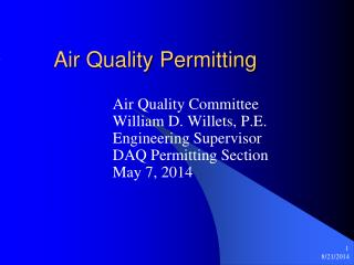 Air Quality Permitting
