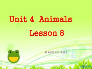 Unit 4  Animals          Lesson 8