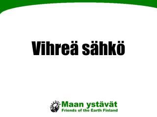 Vihreä sähkö