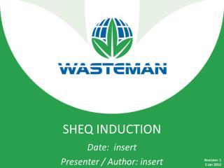 SHEQ  INDUCTION