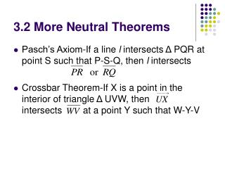 3.2 More Neutral Theorems