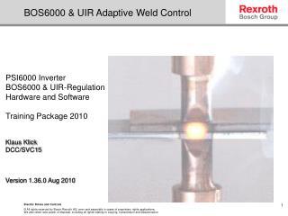 BOS6000 & UIR Adaptive Weld Control
