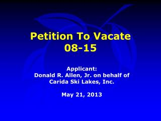 Petition To Vacate  08-15