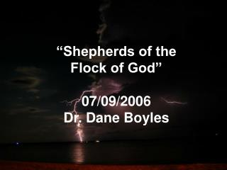 Shepherds of the  Flock of God   07