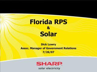 Florida RPS    Solar
