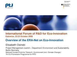 Overview of the ERA-Net on Eco-Innovation