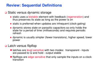 Review: Sequential Definitions