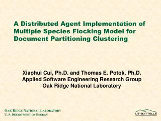 A Distributed Agent Implementation of Multiple Species Flocking Model for Document Partitioning Clustering