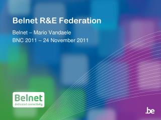 Belnet R&E Federation