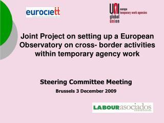 Steering Committee  Meeting Brussels  3 December 2009