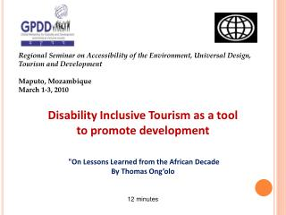 Regional Seminar on Accessibility of the Environment, Universal Design,  Tourism and Development