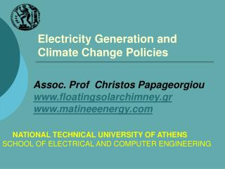 Electricity Generation and Climate Change Policies
