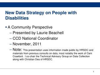 New Data Strategy on People with Disabilities