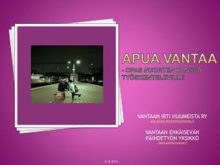 APUA VANTAA - OPAS nuorten kanssa työskenteleville