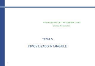 PLAN GENERAL DE CONTABILIDAD 2007 (normas de valoración)
