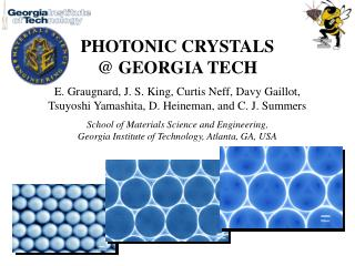 PHOTONIC CRYSTALS  @ GEORGIA TECH