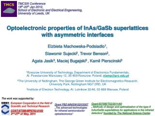 Optoelectronic properties of InAs/GaSb superlattices  with asymmetric interfaces