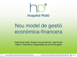 Nou model de gestió econòmica-financera