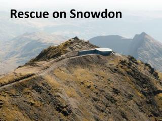 Rescue on Snowdon