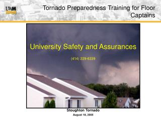 Tornado Preparedness Training for Floor Captains