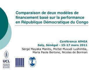 Conférence AfHEA   Saly, Sénégal - 15-17 mars 2011