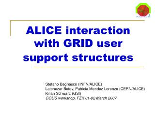 ALICE interaction with GRID user support structures