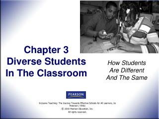 Chapter 3  Diverse Students  In The Classroom